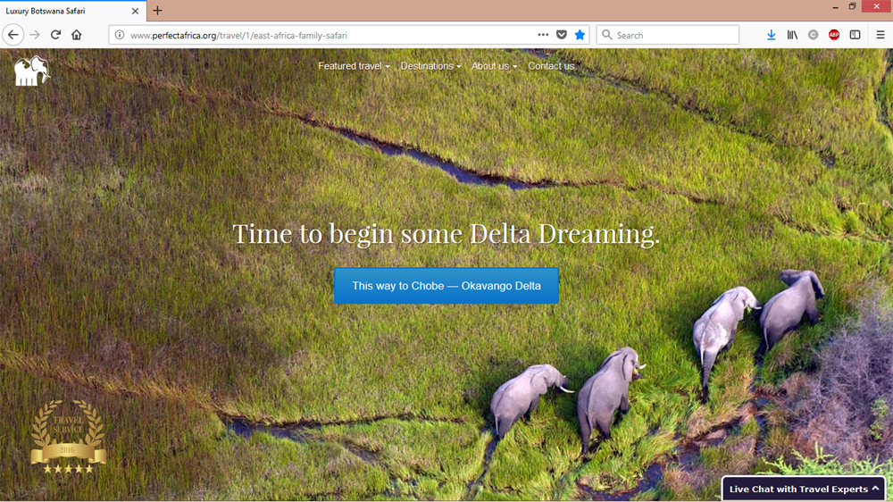 Travel Africa Website Design